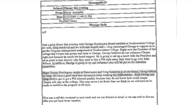 Email from Henry Amigable to Jeff Flores, dated May 22, 2009