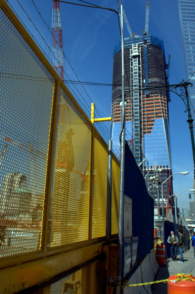 Construction at the World Trade Center site, NYC.