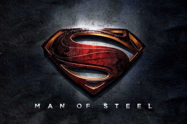 "Warner Bros. redesign of the Superman logo for ""The Man of Steel."" Looks like there's many a dark night ahead for the citizens of Metropolis."