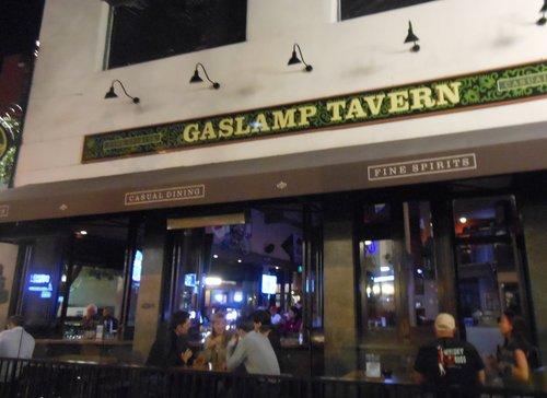 One of The Gaslamp Tavern's two sidewalk patios