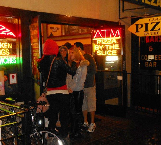 Russian pedicap ladies at Gaslamp Pizza