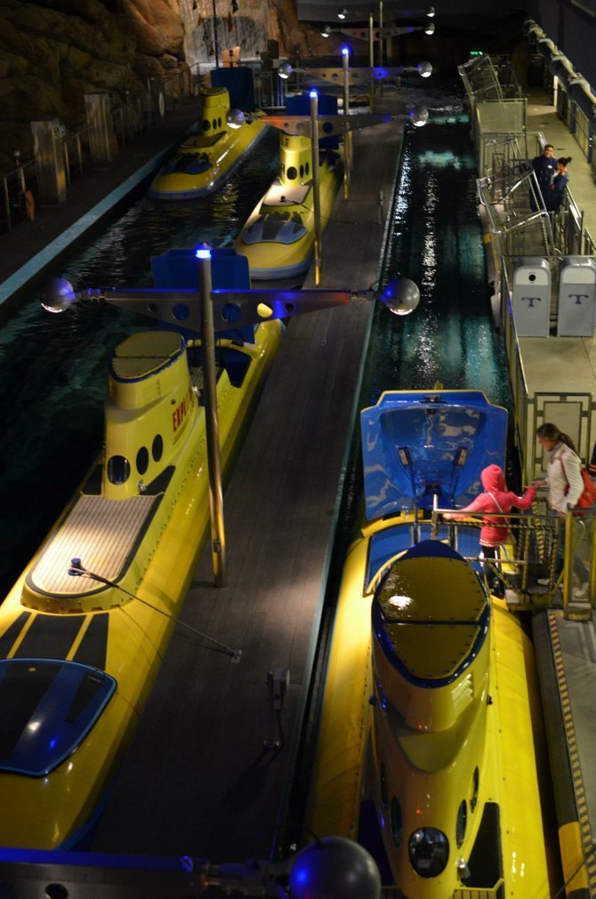 Submarines at Disneyland - Anaheim, CA