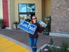 """According to Kira Mercado, """"Ron Paul's message is so different than Obama's was. He's been consistent for 30 years of his life and not likely to turn away from that, because he's not just giving people promises, he's waking them up."""""""