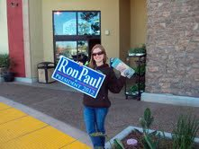 "According to Kira Mercado, ""Ron Paul's message is so different than Obama's was. He's been consistent for 30 years of his life and not likely to turn away from that, because he's not just giving people promises, he's waking them up."""
