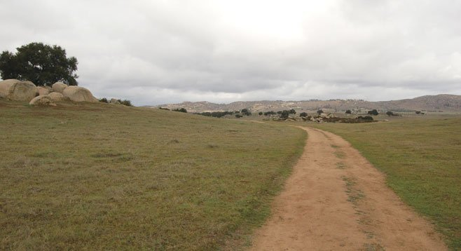 The wide open space of Ramona Grasslands offers a glimpse of early California.
