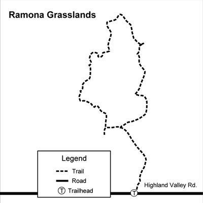 Ramona Grasslands Preserve map