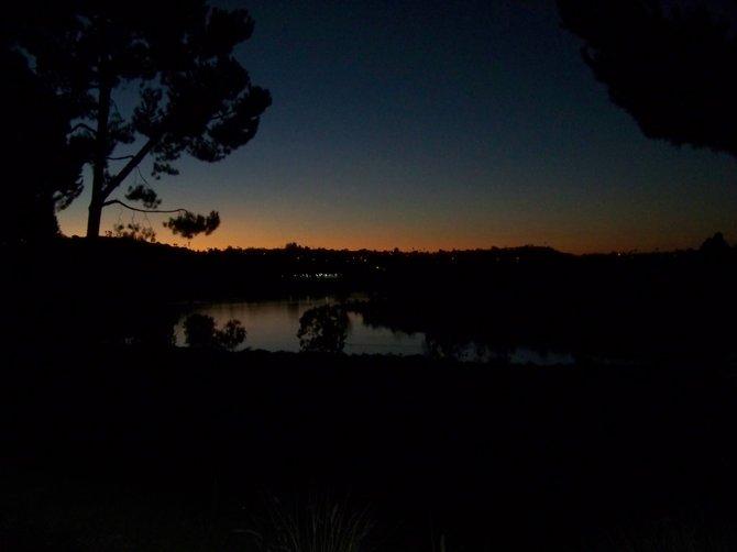 Sunset @ Lake Murray, La Mesa, CA  January 2012.  Photo by: Alan B. Fleischman