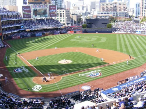 (Image: First pitch on opening day, Padres 2012)