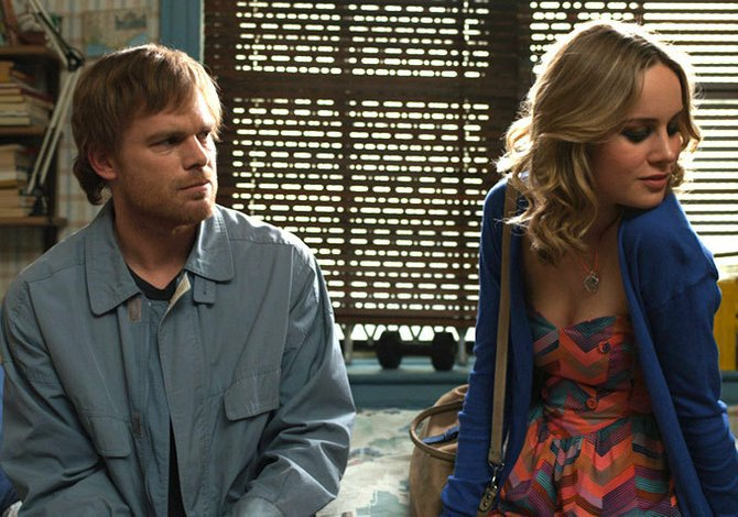 Michael C. Hall and Brie Larson.