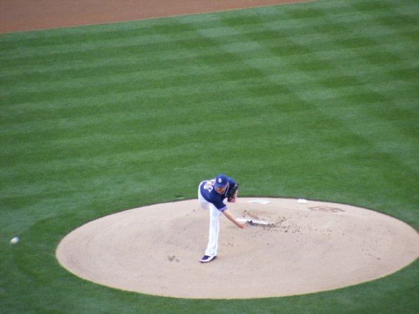 (Padres pitcher Dustin Moseley)