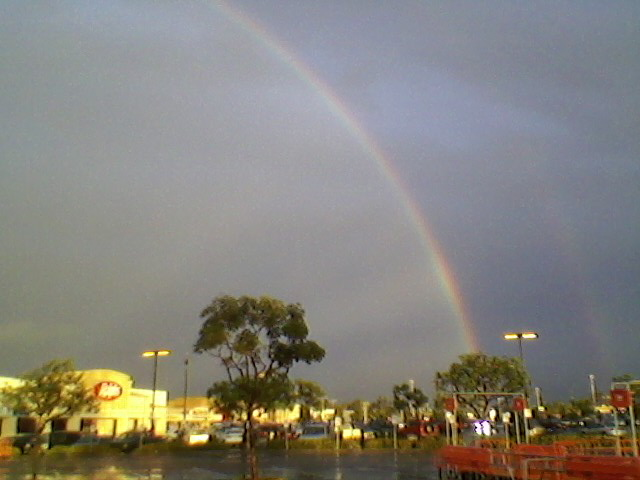 rainbow generated by the target store on balboa in clairemont