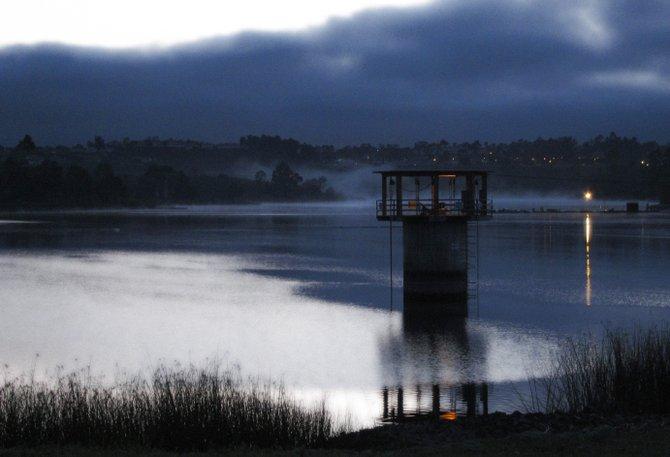 Lake Miramar on an overcast morning