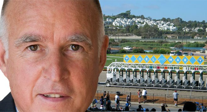 Del Mar horse-racing interests donated heavily to a PAC that is giving to Jerry Brown's reelection campaign.
