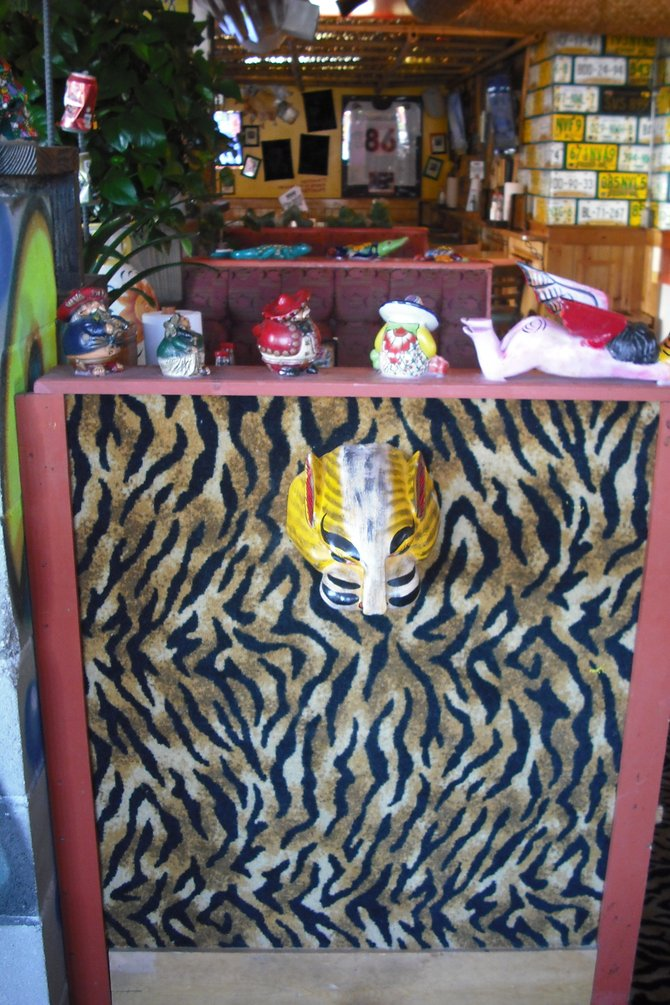 The place has a colorful decor with a Mexican theme (of course), although some things are universal I suppose, such as tiger print?
