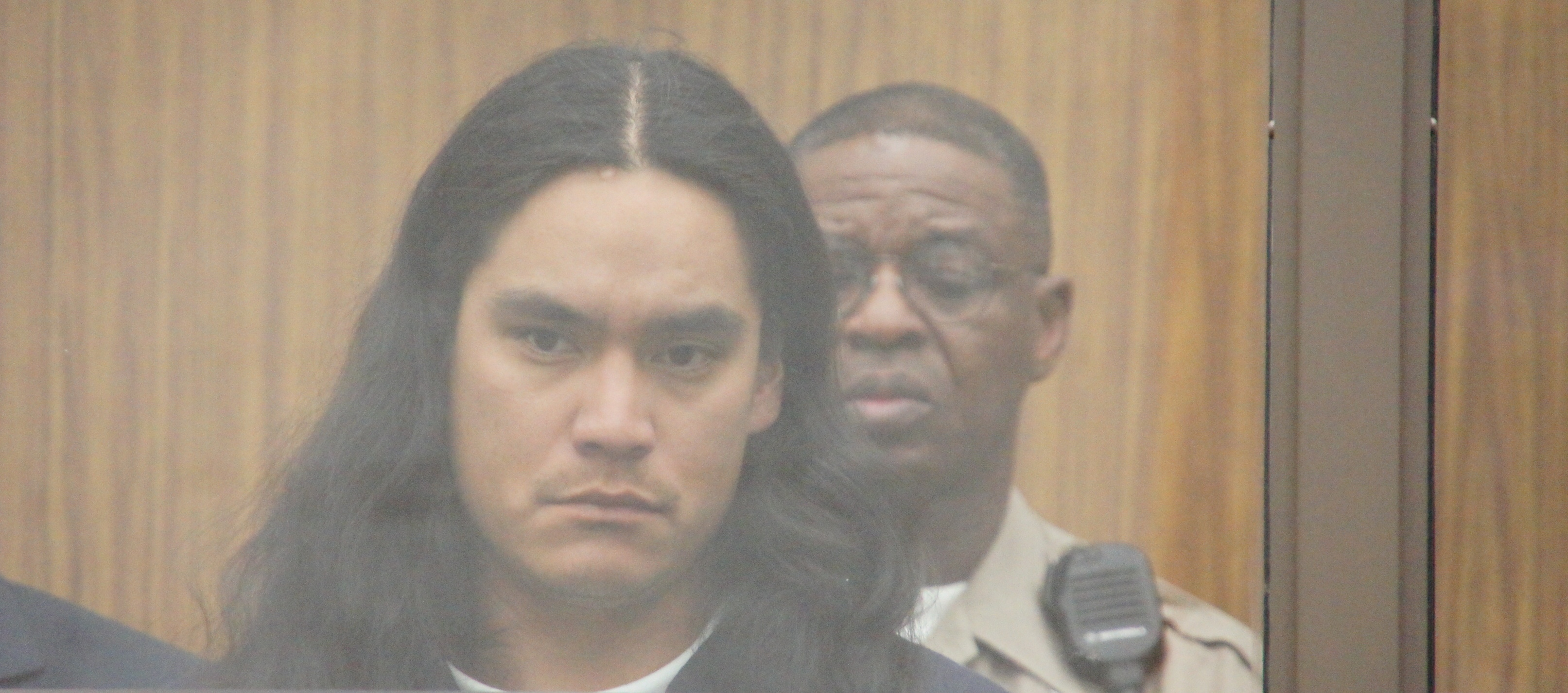 Photo of Stutzman at his arraignment.  PHOTO BOB WEATHERSTON