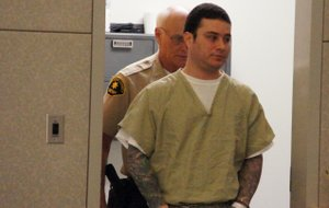 Sudac Jr. enters court to be sentenced.