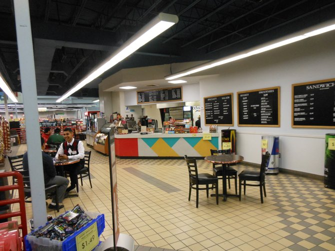 The cafe at the check-out
