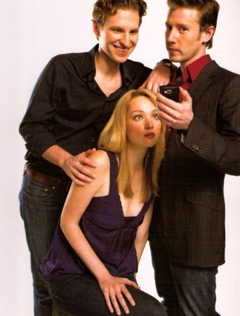 "Sebastian Arcelus, Michael Izquierdo, and Kristen Connolly in ""iChannel."""