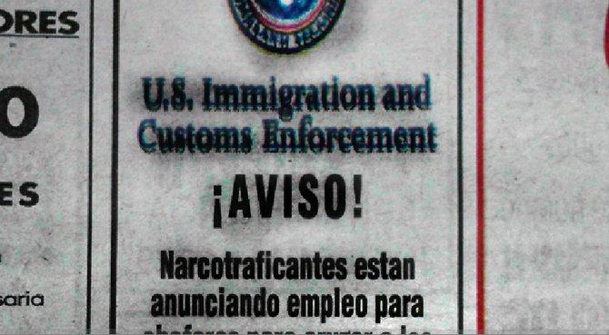 Ad from Tijuana's daily *Frontera*