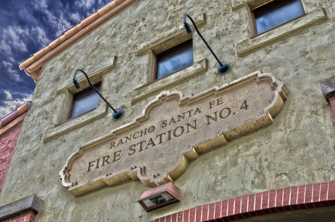 This is Rancho Santa Fe fire station number 4. I took this while at a promotion ceremony.