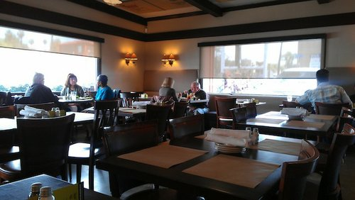 A quiet lunch hour at Terra American Bistro