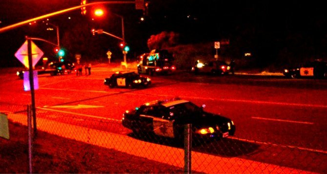 La Costa Avenue crash scene