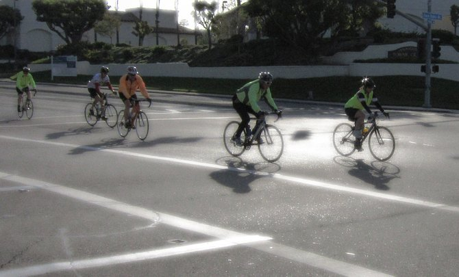 Cyclists take to the steets in Rancho Penasquitos.