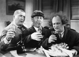"""""""We just saw our new movie - it drove us to drink!""""  Glug-glug-glug-glug-glug-glug-glug..."""