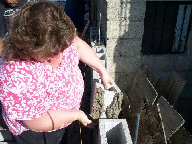 building a wall in Cumbres de Rubi.......Jeanine
