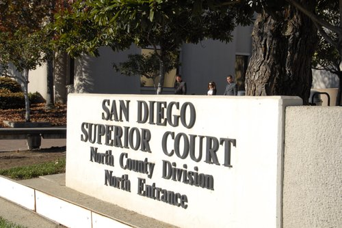 More justice today from San Diego's North County Superior Courthouse.  Photo Bob Weatherston