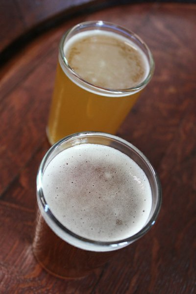 Black Market's Hefeweizen (top) and Dunkelweizen