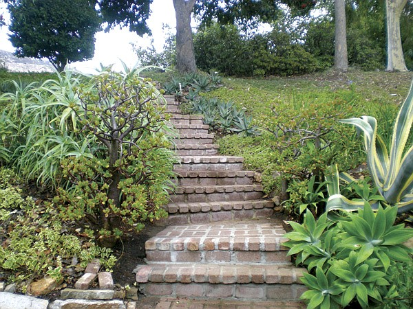 Stairs leading to Laurie Richards's hidden home.