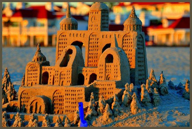 Sun setting on a Coronado Castle...