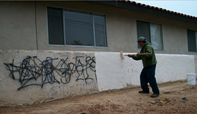 The City of Encinitas reportedly spends about $50,000 per year on graffiti removal.