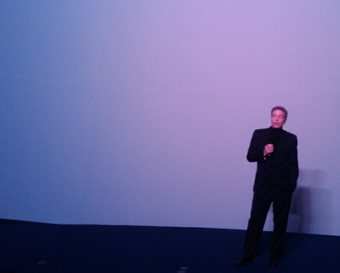 Brad Ohlund fielding questions at a special premiere of To the Arctic