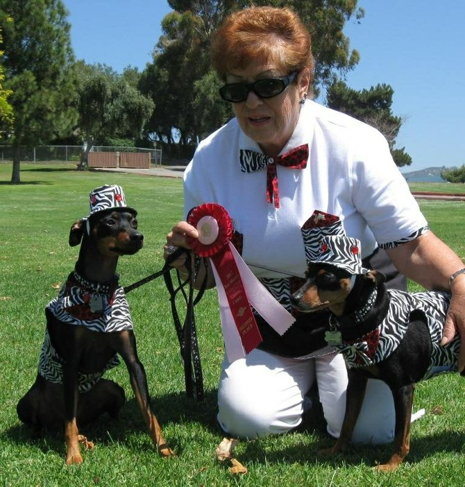 Shirley Casale  and Toby and Mickey took second in the Best Costume category.