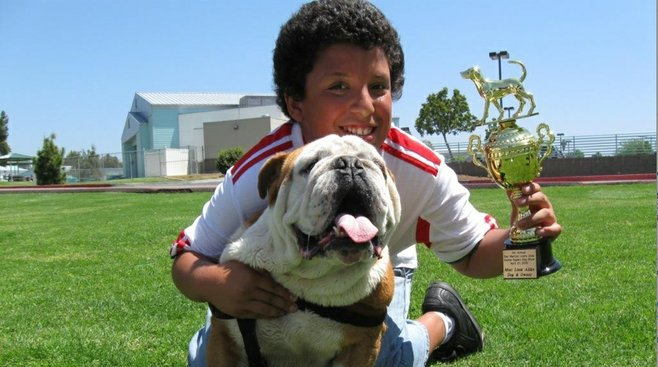 José Ramirez and his five-year-old English bulldog Buches took the Most Look-Alike trophy.