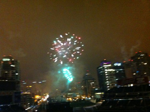 Post-game fireworks at Petco Park