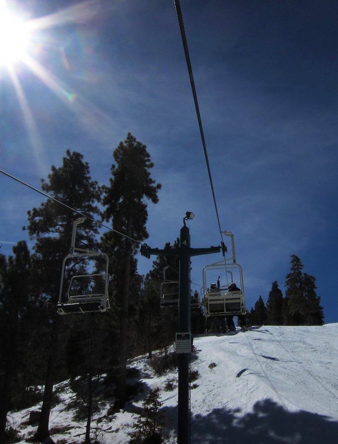 Ski Lifts At Snow Summit