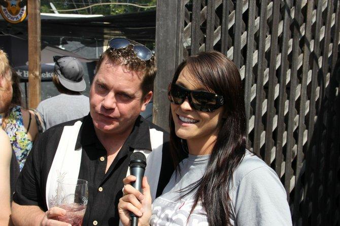 Some mildly drunk dude with Street Team Allison.