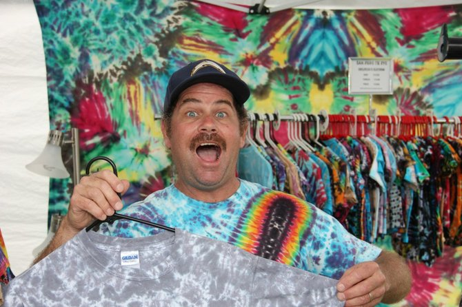 Tie-Dye Guy is super excited!