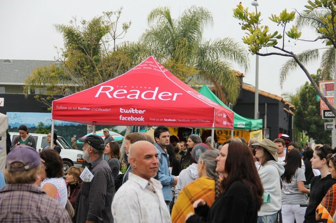 Packed Reader Street Team booth RIGHT next to an outdoor performance area. Great event, great format, would repeat!
