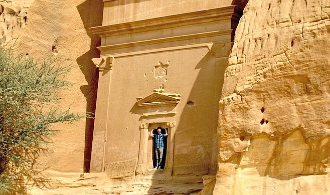 the author in Mada'in Saleh