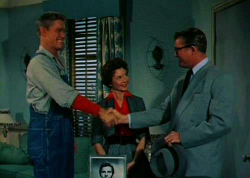 Chuck Connors, Marjorie Owens, and George Reeves.