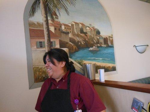 Shy Betty, the cashier