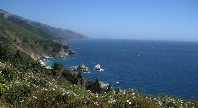 Spring on California's PCH, overlooking an unspoiled stretch of coastline south of Big Sur.