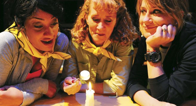 In Brownie Points, now at Lamb's Players, different women discover things in common.