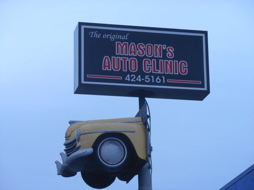 Right next to Mason's Auto Clinic...