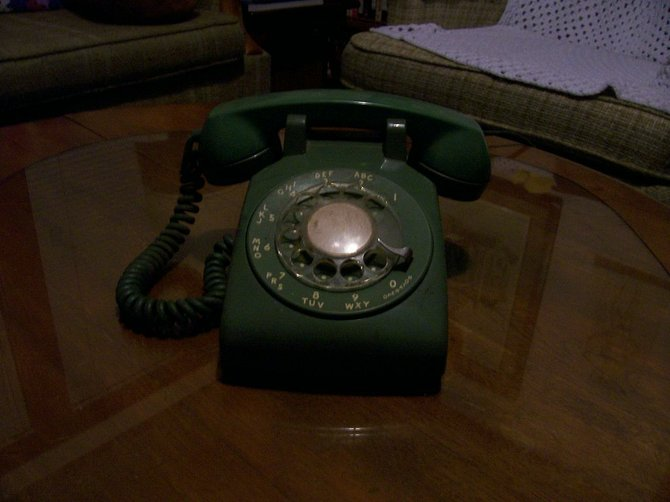 "I can still ""Dial"" out with this old phone."