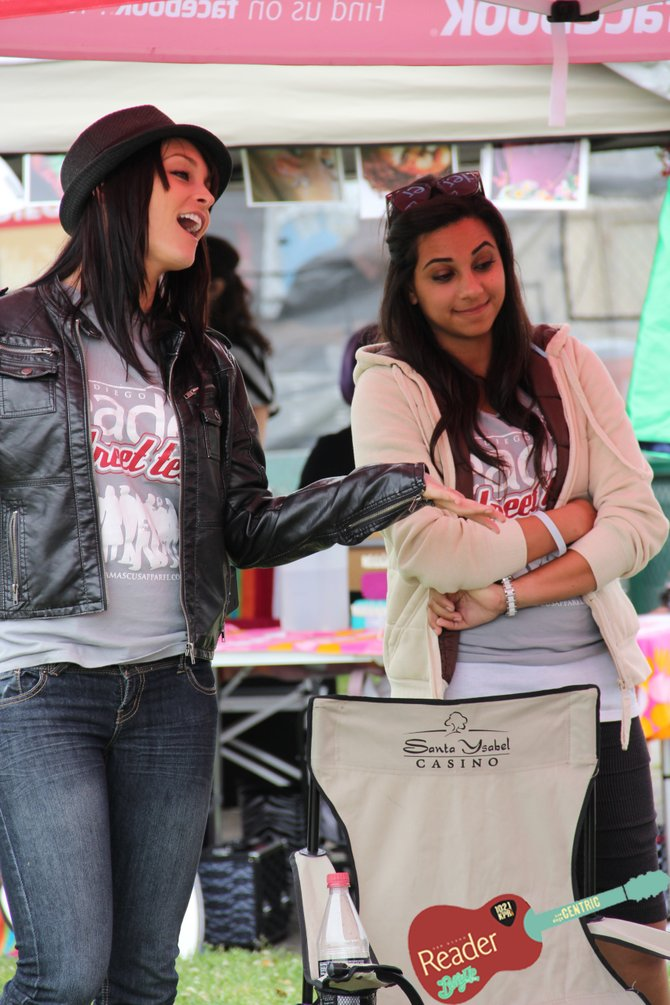 Allison and Renee. Street Team members.